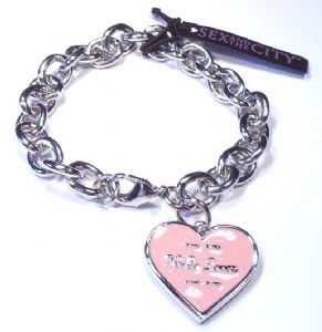 Sex and the City Heart Charm Bracelet Hello Lover - Prop Replica